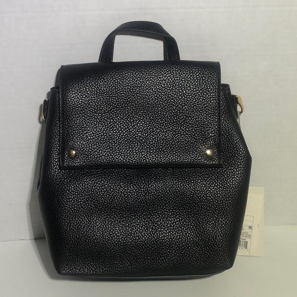 Black Backpack and Crossbody Bag